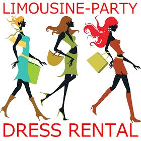 リムジンパーティーのドレスは1着1,980円リムジン女子会ドレス付き