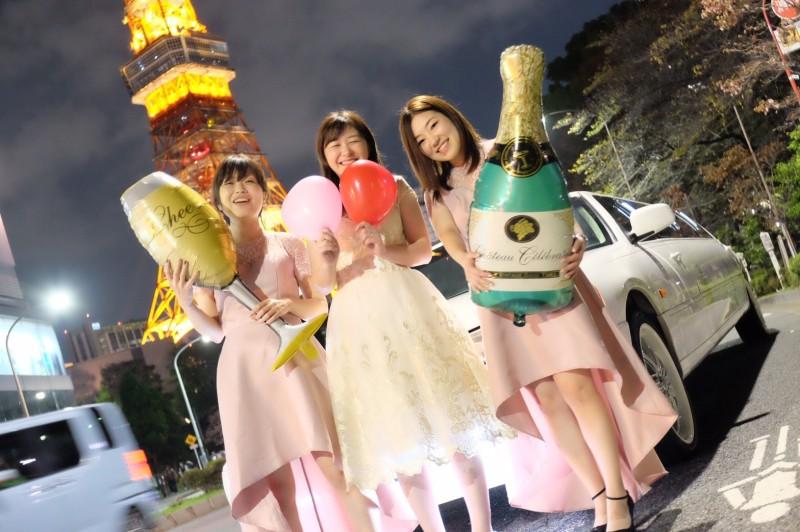 リムジンパーティードレス(東京タワー撮影)