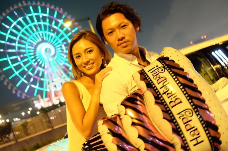日本一長い車でリムジンパーティー