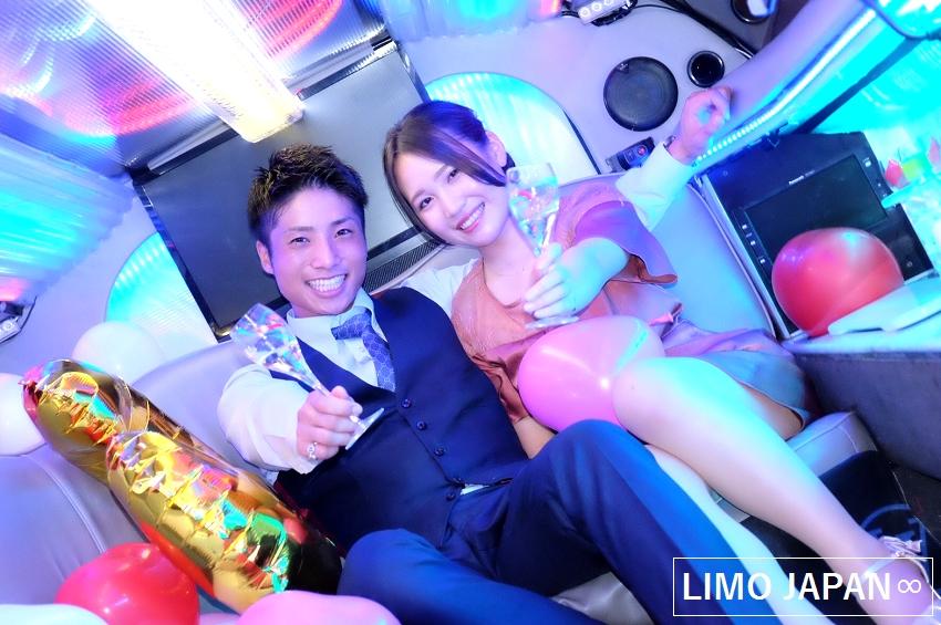 リムジン カップル 予約 東京 デート プロポーズ 結婚式 サプライズ