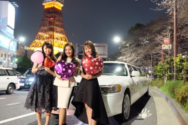 東京タワーお花見