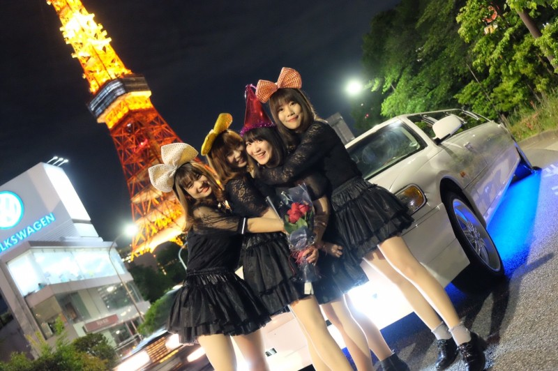 リムジンパーティー東京タワー撮影