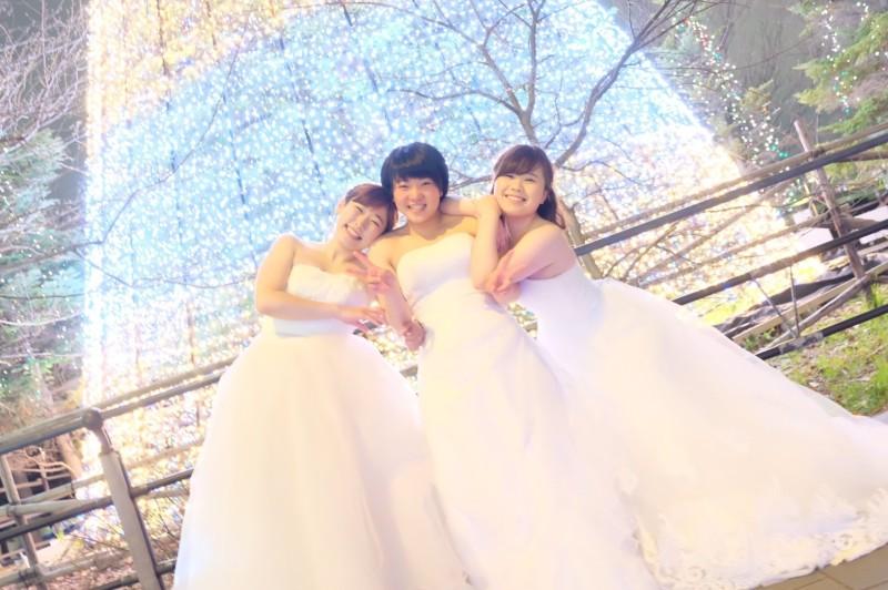 ウエディングドレス女子会3